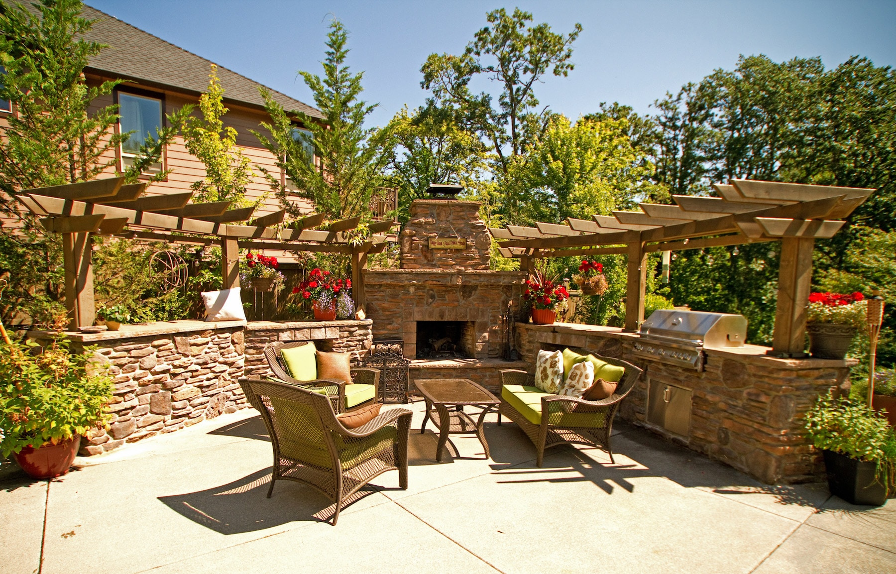 Green Acres Outdoor Fireplace