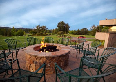 Arbel Pavers and Gas Firepit Overlooking Country Club