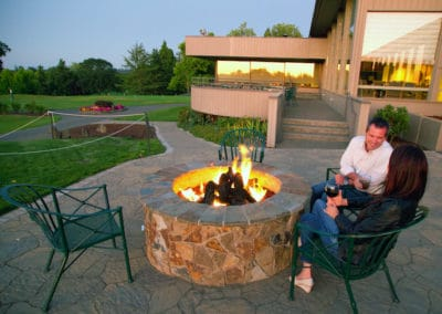 Arbel Pavers with Gas Firepit