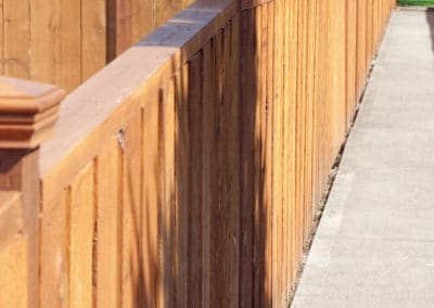 Cedar Fence with Height Variation