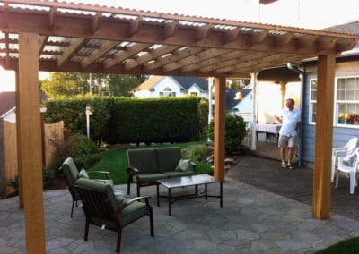 Cedar Pergola and Arbel Patio