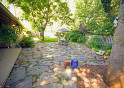 Flagstone Stepable Patio in Natural Setting