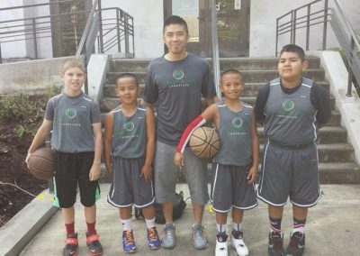 Green Acres 10 and Under Hoopla Team