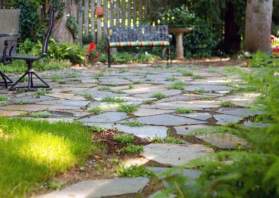 Iron Mountain Flagstone with Permiable Stepables