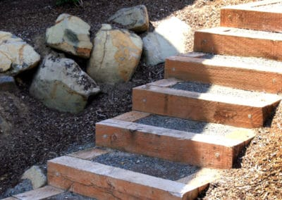 Landscape Timber Steps And Boxes
