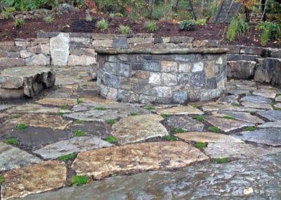 Montana Stone Wall Patio Fire Pit