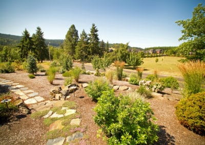Natural Landscape and Flagstone Pathway