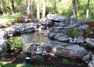 Natural Rock Water Feature in Natural Setting