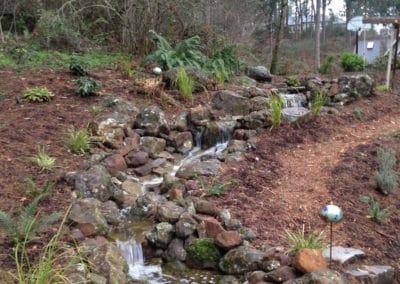 Natural Stream And Falls