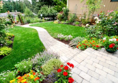Paver Patio, Path and Gardens