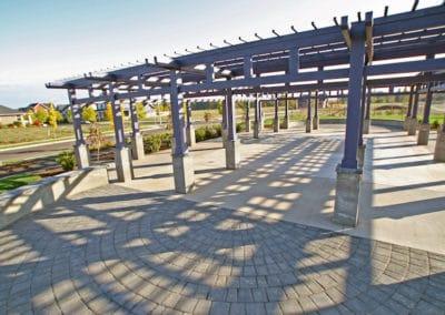 Paver Promenade Courtyard - Municipal Park Landscape