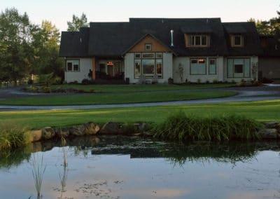 Pond Turf Residential Landscape