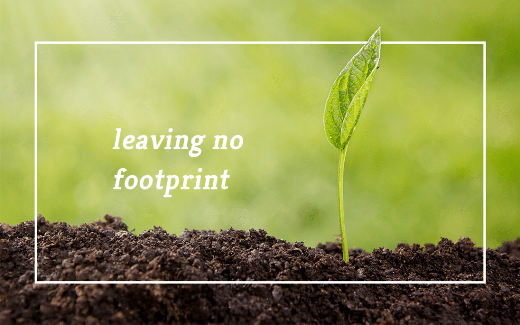 leaving no footprint